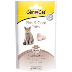 GimCat - Gimcat Skin & Coat Tabs Deri ve Tüy Sağlığı Kedi Ödül Tableti 40 Gr
