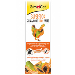 GimCat - Gimcat Super Food Skin&Coat Duo Paste Tavuk ve Papaya Kedi Macunu 50 Gr