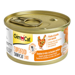 GimCat - GimCat Superfood Shinycat Fileto Tavuk ve Havuçlu Kedi Konservesi 70 Gr