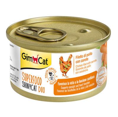 GimCat Superfood Shinycat Fileto Tavuk ve Havuçlu Kedi Konservesi 70 Gr