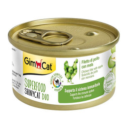 GimCat - GimCat Superfood Shinycat Fileto Tavuklu ve Elma Kedi Konservesi 70 Gr