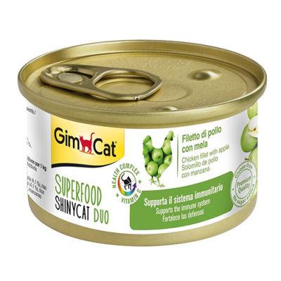 GimCat Superfood Shinycat Fileto Tavuklu ve Elma Kedi Konservesi 70 Gr