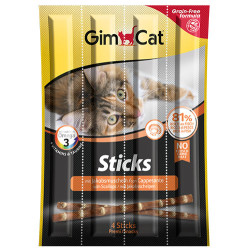 GimCat - Gimcat Tahılsız Deniz Tarağı Kedi Ödül Çubukları 4 Parça (20 Gr)