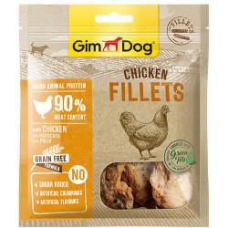 GimDog - GimDog Fillets Tavuk Etli Kuru Fileto Köpek Ödülü 60 Gr