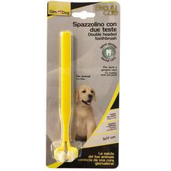 GimDog - Gimdog İki Başlı Köpek Diş Fırçası 17x3 Cm