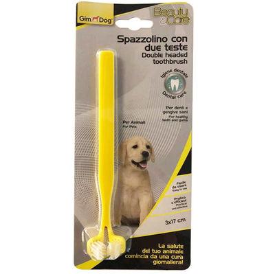 Gimdog İki Başlı Köpek Diş Fırçası 17 x 3 Cm