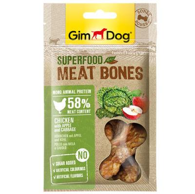 GimDog Meat Bones Elmalı ve Lahanalı Tavuk Köpek Ödülü 70 Gr