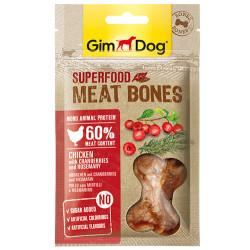 GimDog - GimDog Meat Bones Kızılcık ve Biberiyeli Tavuk Köpek Ödülü 70 Gr