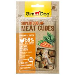 GimDog - GimDog Meat Cubes Havuçlu ve Ispanaklı Tavuk Köpek Ödülü 40 Gr