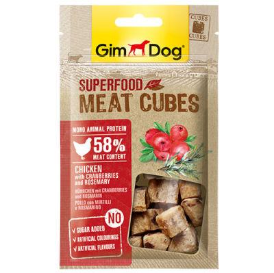 GimDog Meat Cubes Kızılcıklı ve Biberiyeli Tavuk Köpek Ödülü 40 Gr