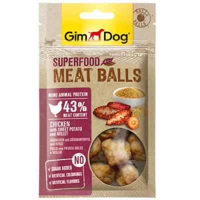 GimDog MeatBalls Tatlı Patatesli ve Darılı Tavuk Köpek Ödülü 70 Gr