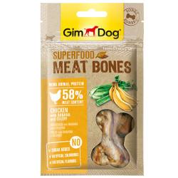 GimDog - GimDog Meat Bones Muzlu ve Kerevizli Tavuk Köpek Ödülü 70 Gr