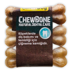 GimDog - Gimdog Mordimi Press Kemik 3,5 - 9 Cm - 3lü Naturel Paket