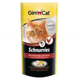 GimCat - Gimcat Schnurries Tavuk&Taurin Kalp Şeklinde Ödül Tableti 40 Gr