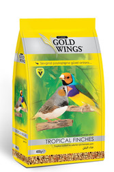 Gold Wings - Gold Wings Classic Tropikal Bülbül ve Sakalar (Tropical Finches) için Komple Yem 400 Gr