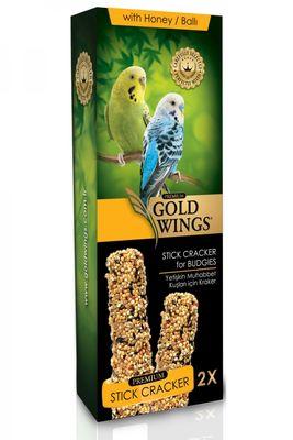 Gold Wings Premium Ballı Muhabbet Kuşu Krakeri Kutulu 2 Adet