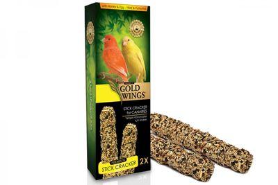 Gold Wings Premium Ballı ve Yumurtalı Kanarya Krakeri Kutulu 2 Adet