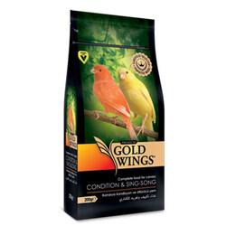 Gold Wings - Gold Wings Premium Kanaryalar için Kondisyon ve Öttürücü Yem 200 Gr