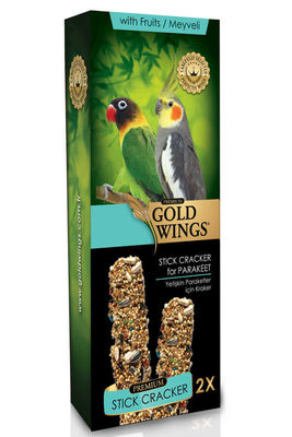 Gold Wings Premium Meyveli Paraket Krakeri Kutulu 2 Adet