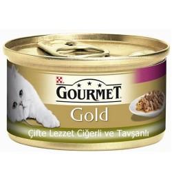 Gourmet - Gourmet Gold Çifte Lezzet Ciğer ve Tavşanlı Kedi Maması 85 Gr