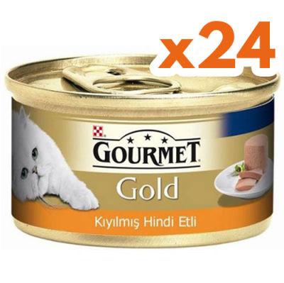 Gourmet Gold Kıyılmış Hindi Etli Kedi Konservesi 85 Gr - (24 Adet)