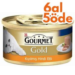 Gourmet - Gourmet Gold Kıyılmış Hindi Etli Kedi Konservesi 85 Gr-6 Al 5 Öde