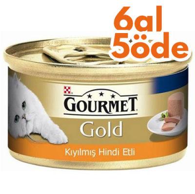 Gourmet Gold Kıyılmış Hindi Etli Kedi Konservesi 85 Gr - 6 Al 5 Öde