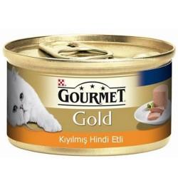 Gourmet - Gourmet Gold Kıyılmış Hindi Etli Kedi Konservesi 85 Gr