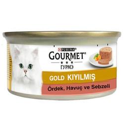 Gourmet - Gourmet Gold Kıyılmış Ördek ve Sebzeli Kedi Konservesi 85 Gr
