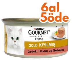 Gourmet - Gourmet Gold Kıyılmış Ördek ve Sebzeli Kedi Konservesi 85 Gr-6 Al 5 Öde