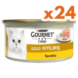 Gourmet - Gourmet Gold Kıyılmış Tavuklu Konserve Kedi Maması 85 Gr-(24 Adet)