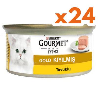 Gourmet Gold Kıyılmış Tavuklu Konserve Kedi Maması 85 Gr - (24 Adet)