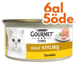 Gourmet - Gourmet Gold Kıyılmış Tavuklu Konserve Kedi Maması 85 Gr-6 Al 5 Öde