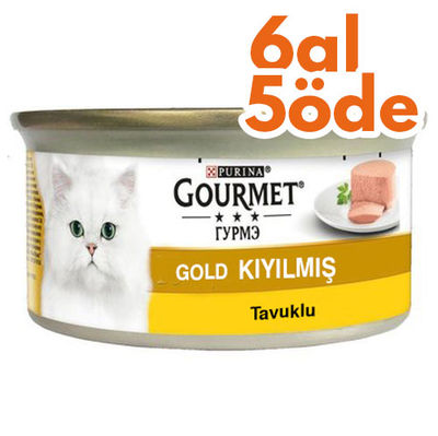 Gourmet Gold Kıyılmış Tavuklu Konserve Kedi Maması 85 Gr - 6 Al 5 Öde