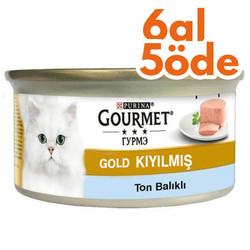 Gourmet - Gourmet Gold Kıyılmış Ton Balıklı Kedi Konserve 85 Gr-6 Al 5 Öde