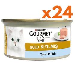 Gourmet - Gourmet Gold Kıyılmış Ton Balıklı Kedi Konservesi 85 Gr-(24 Adet)