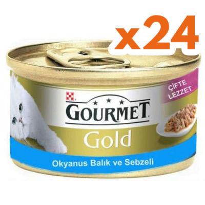 Gourmet Gold Okyanus Balıklı ve Sebzeli Kedi Maması 85 Gr-(24 Adet)