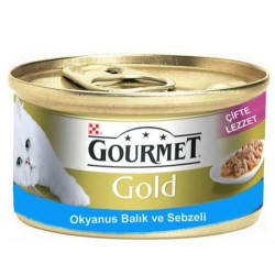 Gourmet - Gourmet Gold Okyanus Balıklı ve Sebzeli Kedi Maması 85 Gr