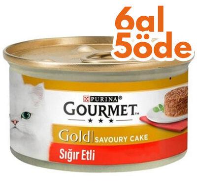 Gourmet Gold Savoury Cake Sığır Eti Kedi Konservesi 85 Gr - 6 Al 5 Öde