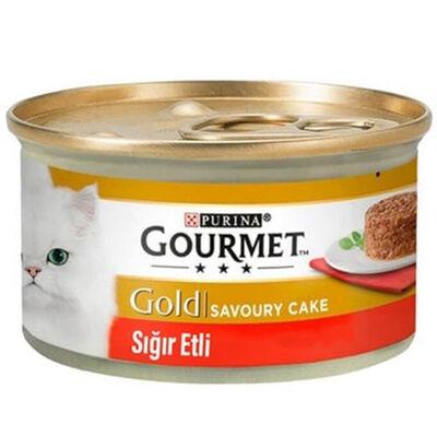 Gourmet Gold Savoury Cake Sığır Eti Kedi Konservesi 85 Gr