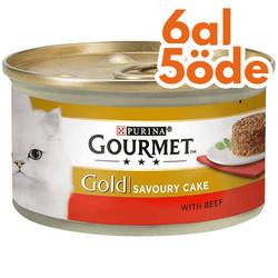 Gourmet - Gourmet Gold Savoury Cake Sığır Eti ve Domatesli Kedi Konservesi 85 Gr - 6 Al 5 Öde