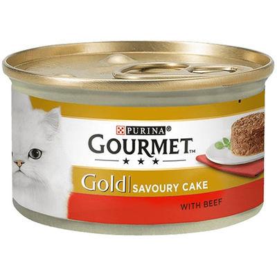 Gourmet Gold Savoury Cake Sığır Eti ve Domatesli Kedi Konservesi 85 Gr
