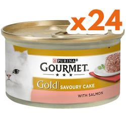 Gourmet - Gourmet Gold Savoury Cake Somonlu Kedi Konservesi 85 Gr-(24 Adet)