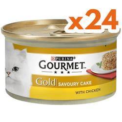 Gourmet - Gourmet Gold Savoury Cake Tavuk ve Havuçlu Kedi Konservesi 85 Gr - ( 24 Adet )