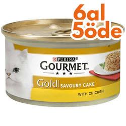 Gourmet - Gourmet Gold Savoury Cake Tavuk ve Havuçlu Kedi Konservesi 85 Gr - 6 Al 5 Öde