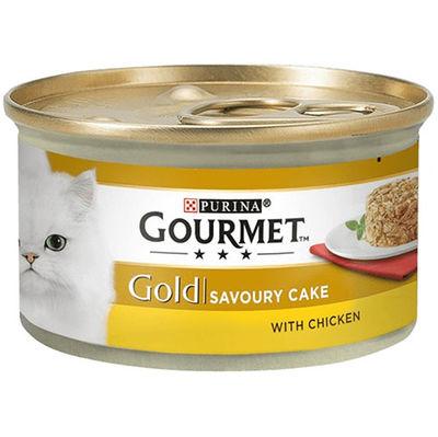 Gourmet Gold Savoury Cake Tavuk ve Havuçlu Kedi Konservesi 85 Gr