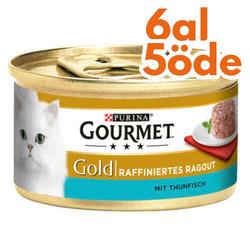 Gourmet - Gourmet Gold Savoury Cake Ton Balıklı Kedi Konservesi 85 Gr - 6 Al 5 Öde