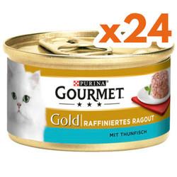 Gourmet - Gourmet Gold Savoury Cake Ton Balıklı Kedi Konservesi 85 Gr-(24 Adet)