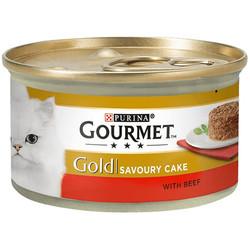 Gourmet - Gourmet Gold Savoury Cake Sığır Eti ve Domatesli Kedi Konservesi 85 Gr