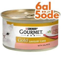 Gourmet - Gourmet Gold Savoury Cake Somonlu Kedi Konservesi 85 Gr-6 Al 5 Öde